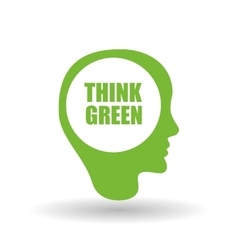 Think green  editable icon vector