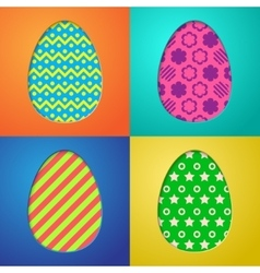 Easter eggs backgrounds vector