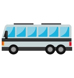 Bus vehicle transport icon design vector
