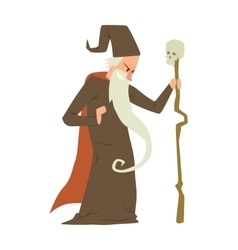 Magicians and wizards show old man vector
