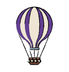 Airballoon adventure recreational fly basket vector