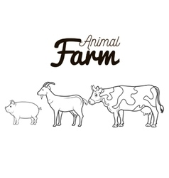 Animals farm group icon vector