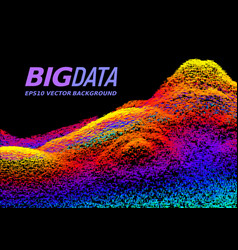 Big data concept abstract background vector