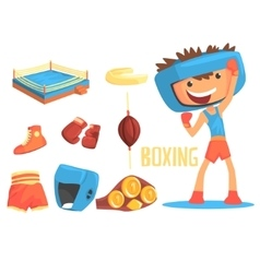 Boy Boxer Kids Future Dream Professional Boxing vector image vector image