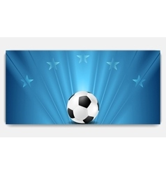 Bright abstract blue soccer background vector