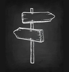 Chalk sketch of signpost vector