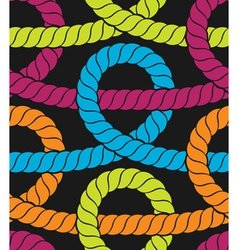Colorful ropes seamless pattern vector image