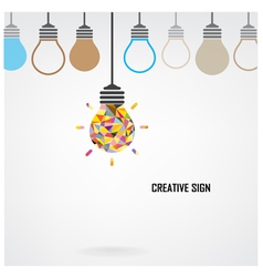Creative light bulb idea concept background design vector