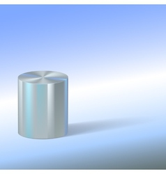 Cylinder with reflections on colored background vector