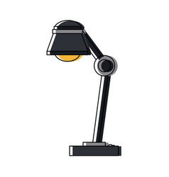 Desk lamp icon bulb light energy ilumination vector