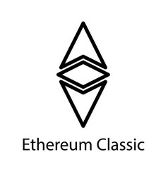 ethereum classic icon crypto currency vector image