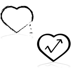 Fixing a heart vector image vector image