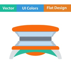 Flat design icon of solarium vector