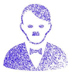 Hitler manager icon grunge watermark vector