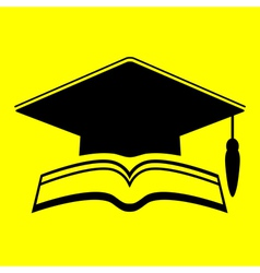 Icon graduate cap vector