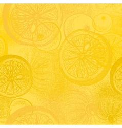 Lemon citrus fruit Wallpaper seamless pattern vector image