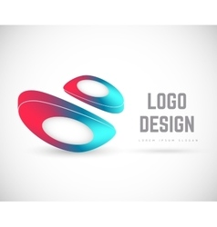 Logo universal emblem vector