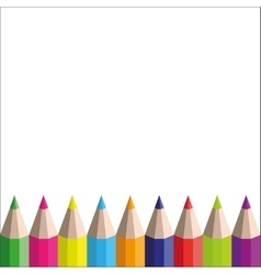 rainbow pencils on a white background vector image