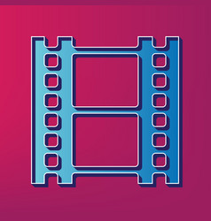 Reel of film sign blue 3d printed icon on vector