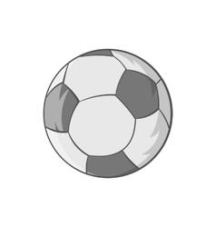 Soccer ball icon black monochrome style vector image vector image