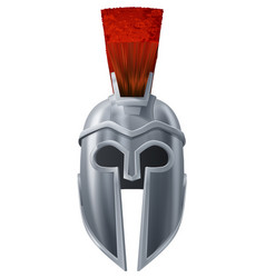 spartan helmet vector image vector image