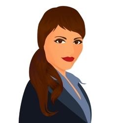 Specialist in public relations Portrait pr vector image vector image