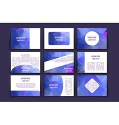 Template brochure design vector