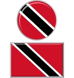 Trinidad and Tobago round square icon flag vector image vector image