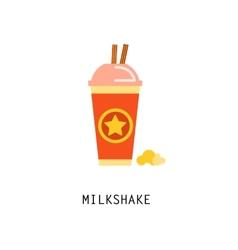 Vintage milkshake poster vector