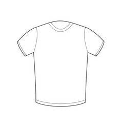 white t-shirt template isolated sport clothing on vector image