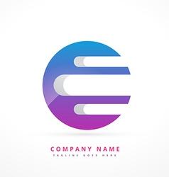 Abstract colorful logo art template design vector