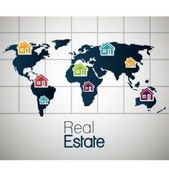 real estate house apartament rental isolated vector image