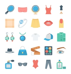 Fashion and clothes icons 3 vector
