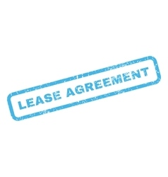 Lease agreement rubber stamp vector
