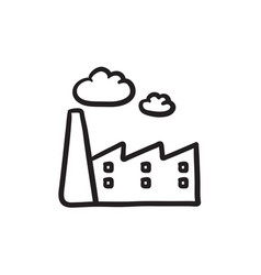 Factory sketch icon vector