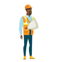 injured builder with broken arm vector image