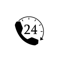 full time call services solid icon vector image