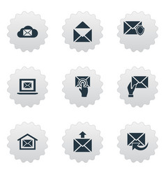 Set of simple mailing icons elements laptop vector