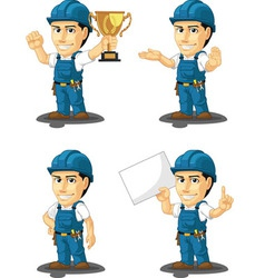 Technician or repairman mascot 5 vector