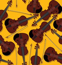 Violins and bow pattern vector