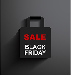 Sale shopping bag black friday vector