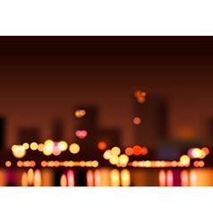 Big city lights vector