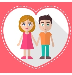 Lovers holding hands vector