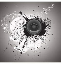 Music poster with audio speaker4 vector