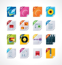 File labels icon set vector