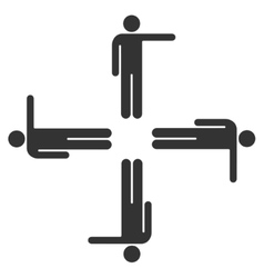 Pointing men icon vector