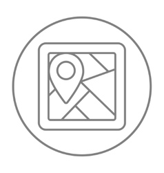 Map with pointer line icon vector