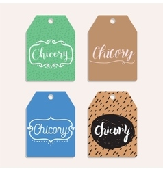 Chicory inscription logo set typography design vector