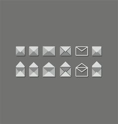 mail set vector image