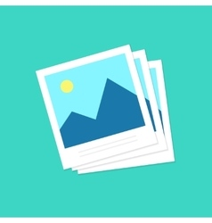 Photo frames icon photoframe isolated on vector